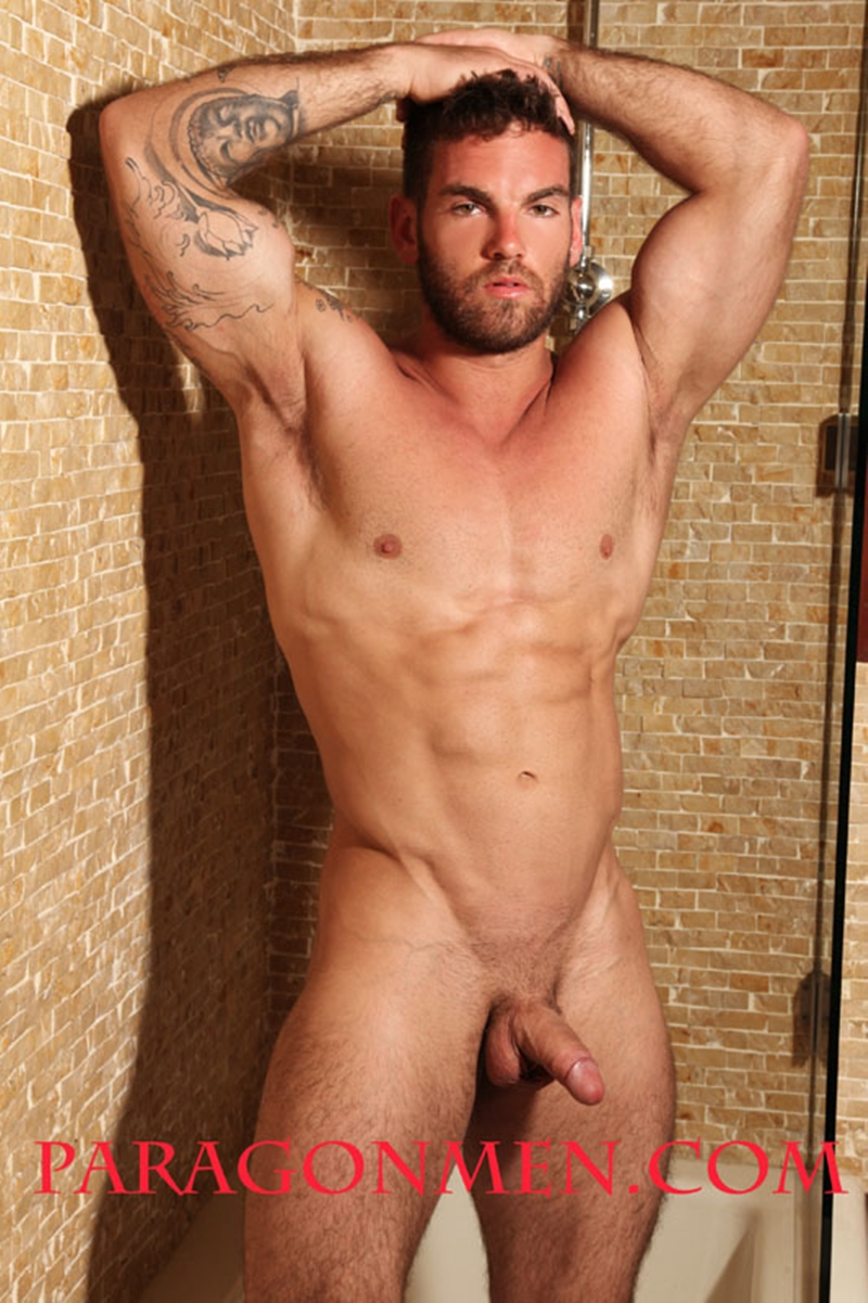 Bearded naked big muscle wrestling star Chase LaChance aka Hunter strips bare 001 porn solo gay photo - Bearded naked big muscle wrestling star Chase Lachance aka Hunter strips bare