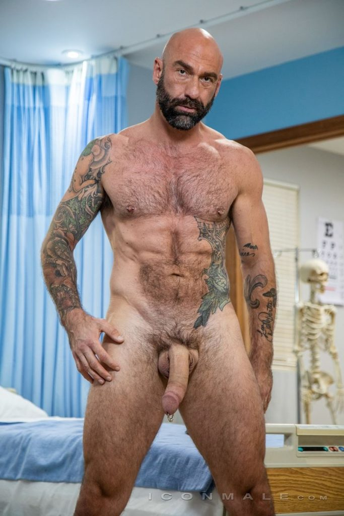 Big hairy muscle hunk Drew Sebastian shows off huge Prince Albert cock piercing 001 gay porn pics 683x1024 - Big hairy muscle hunk Drew Sebastian shows off his huge Prince Albert cock piercing