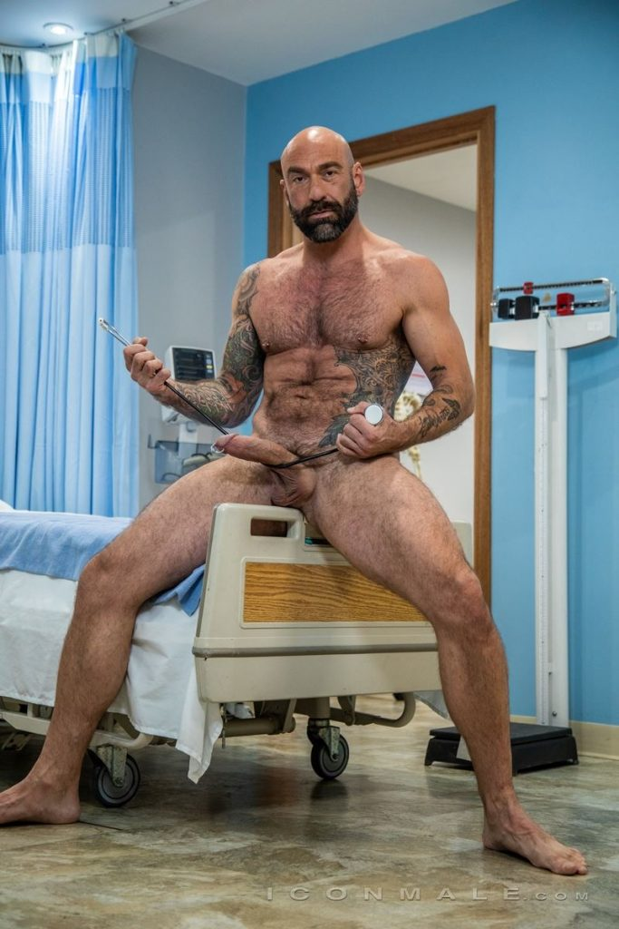 Big hairy muscle hunk Drew Sebastian shows off huge Prince Albert cock piercing 004 gay porn pics 683x1024 - Big hairy muscle hunk Drew Sebastian shows off his huge Prince Albert cock piercing
