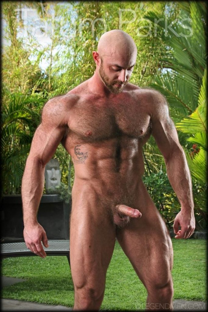 Hot muscle hairy hunk Tatum Parks strips jerks big fat dick cameras Legend Men Chaos Men 002 gay porn pics 683x1024 - Hot muscle hairy hunk Tatum Parks strips and jerk his big fat dick for the cameras