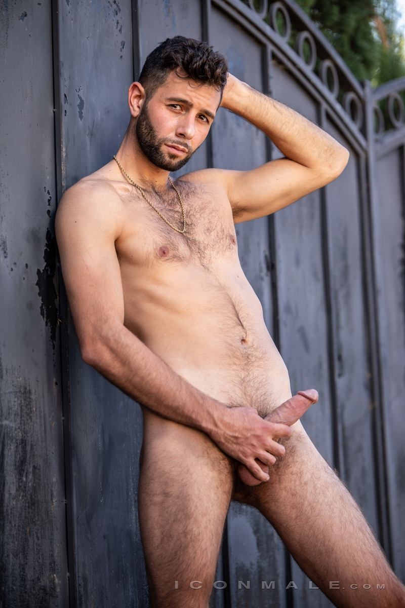 Young bearded hottie hair chest Argos Santini new gay porn star chaos men icon male 008 gay porn pics - Young bearded hottie Argos Santini is new to gay porn but he's rising fast