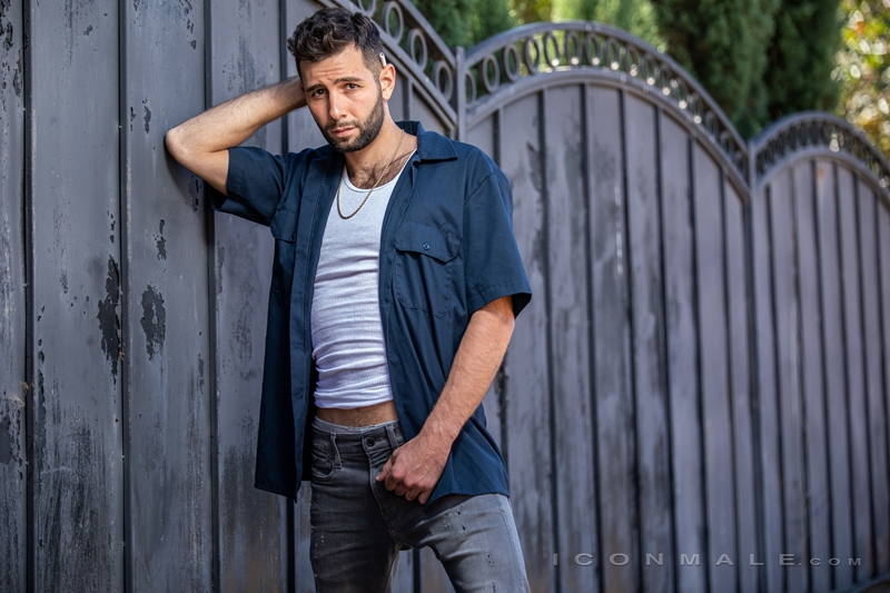 Young bearded hottie hair chest Argos Santini new gay porn star chaos men icon male 014 gay porn pics - Young bearded hottie Argos Santini is new to gay porn but he's rising fast