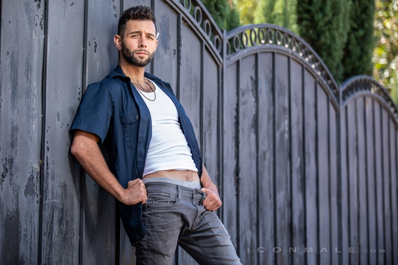 Young bearded hottie hair chest Argos Santini new gay porn star chaos men icon male 015 gay porn pics - Young bearded hottie Argos Santini is new to gay porn but he's rising fast