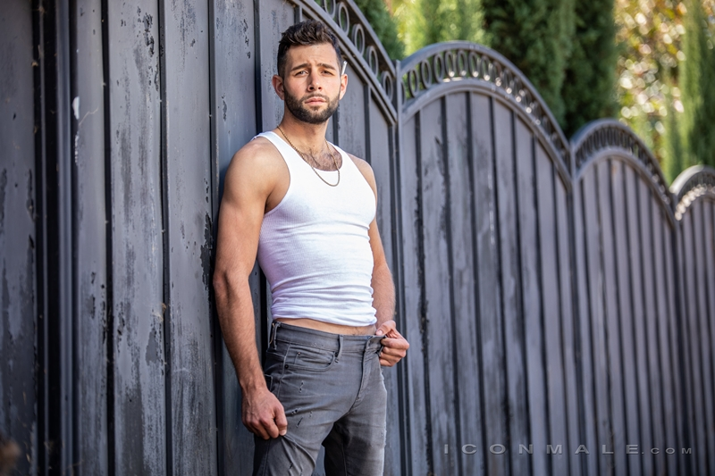 Young bearded hottie hair chest Argos Santini new gay porn star chaos men icon male 016 gay porn pics - Young bearded hottie Argos Santini is new to gay porn but he's rising fast