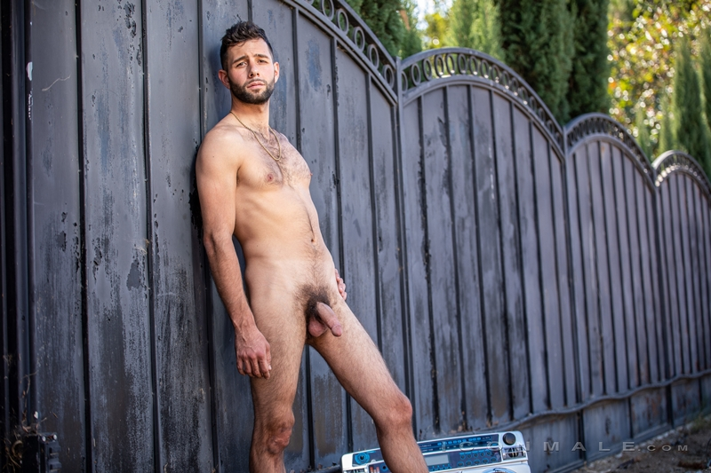 Young bearded hottie hair chest Argos Santini new gay porn star chaos men icon male 019 gay porn pics - Young bearded hottie Argos Santini is new to gay porn but he's rising fast