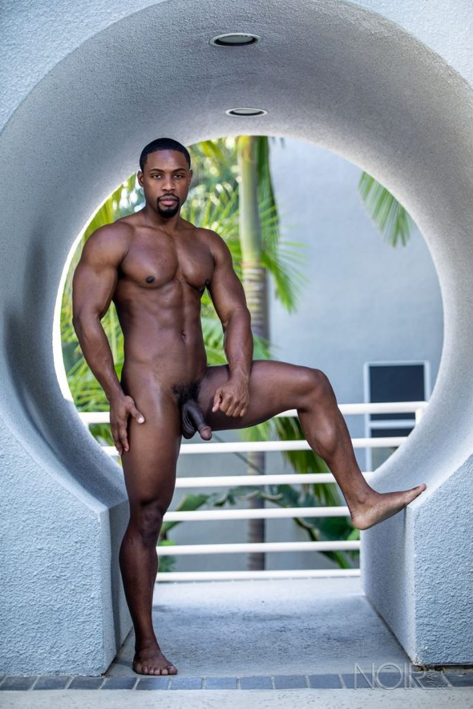Hot ripped black muscle dude DeAngelo Jackson strips naked jerking huge cock 001 gay porn pics 683x1024 - Hot ripped black muscle dude DeAngelo Jackson strips naked jerking his huge cock
