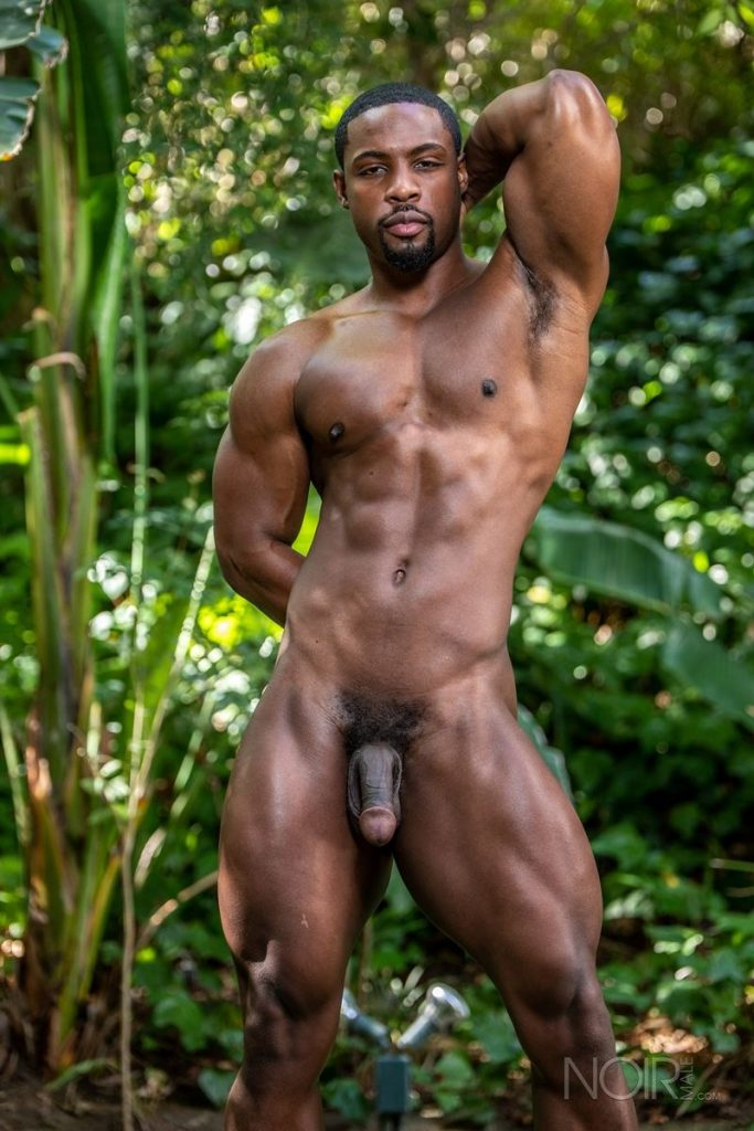 Hot ripped black muscle dude DeAngelo Jackson strips naked jerking huge cock 002 gay porn pics 683x1024 - Hot ripped black muscle dude DeAngelo Jackson strips naked jerking his huge cock