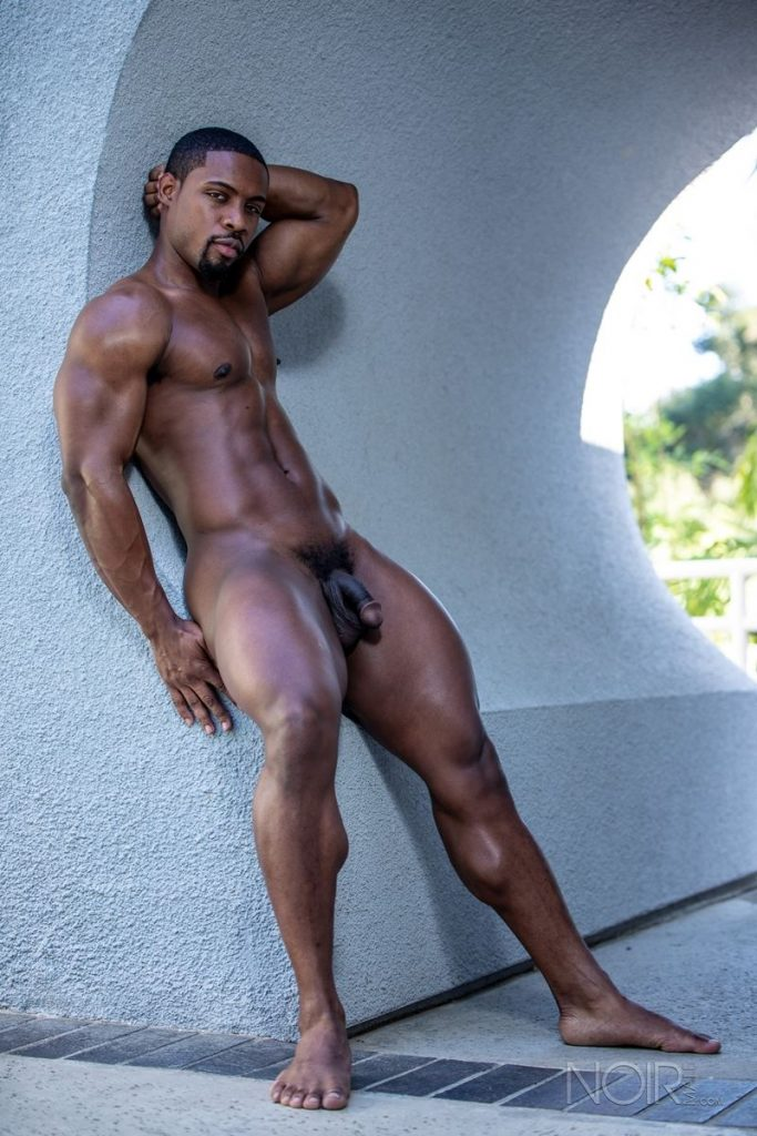 Hot ripped black muscle dude DeAngelo Jackson strips naked jerking huge cock 003 gay porn pics 683x1024 - Hot ripped black muscle dude DeAngelo Jackson strips naked jerking his huge cock