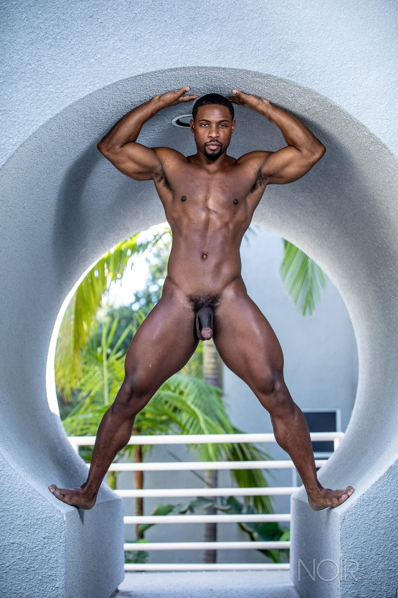 Hot ripped black muscle dude DeAngelo Jackson strips naked jerking huge cock 005 gay porn pics - Hot ripped black muscle dude DeAngelo Jackson strips naked jerking his huge cock