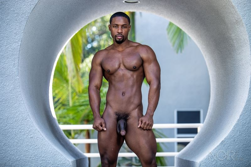 Hot ripped black muscle dude DeAngelo Jackson strips naked jerking huge cock 010 gay porn pics - Hot ripped black muscle dude DeAngelo Jackson strips naked jerking his huge cock