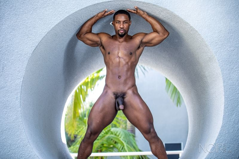 Hot ripped black muscle dude DeAngelo Jackson strips naked jerking huge cock 015 gay porn pics - Hot ripped black muscle dude DeAngelo Jackson strips naked jerking his huge cock
