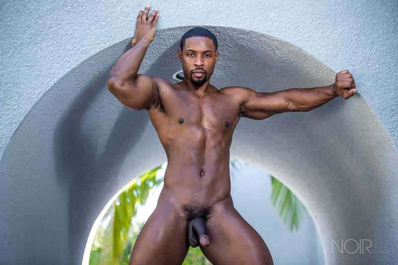Hot ripped black muscle dude DeAngelo Jackson strips naked jerking huge cock 017 gay porn pics - Hot ripped black muscle dude DeAngelo Jackson strips naked jerking his huge cock