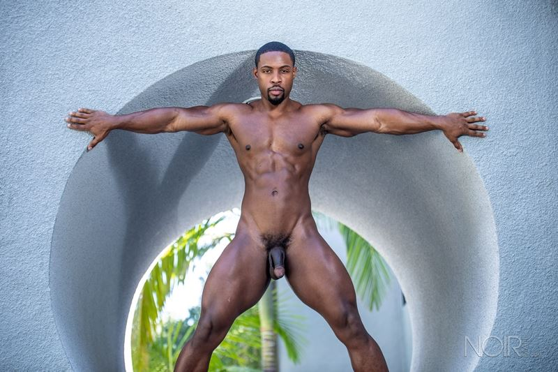 Hot ripped black muscle dude DeAngelo Jackson strips naked jerking huge cock 019 gay porn pics - Hot ripped black muscle dude DeAngelo Jackson strips naked jerking his huge cock