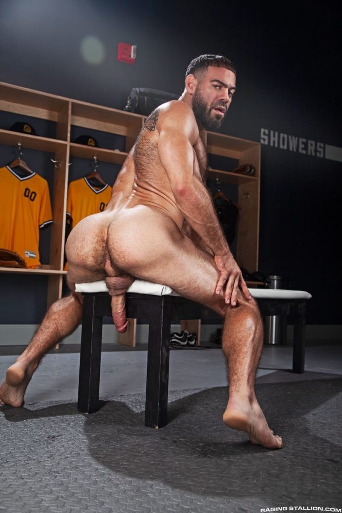 Hairy hunk gay porn star Ricky Larkin strips naked thick 9 inch dick 005 gay porn pics 683x1024 - Hairy hunk Ricky Larkin strips naked exposing his thick 8.5 inch dick