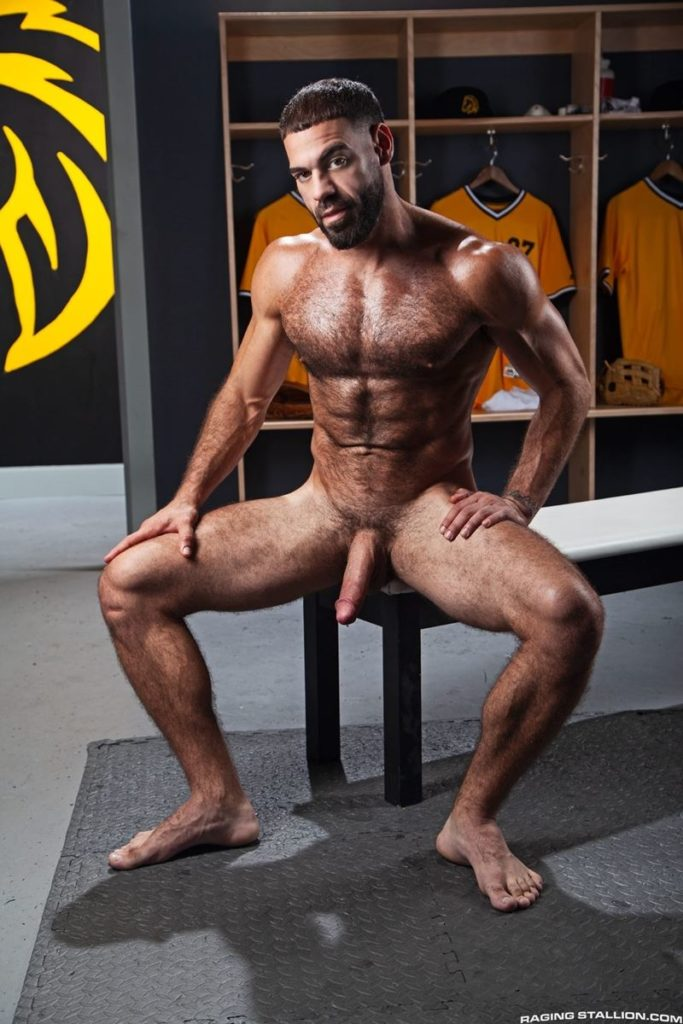 Hairy hunk gay porn star Ricky Larkin strips naked thick 9 inch dick 006 gay porn pics 683x1024 - Hairy hunk Ricky Larkin strips naked exposing his thick 8.5 inch dick