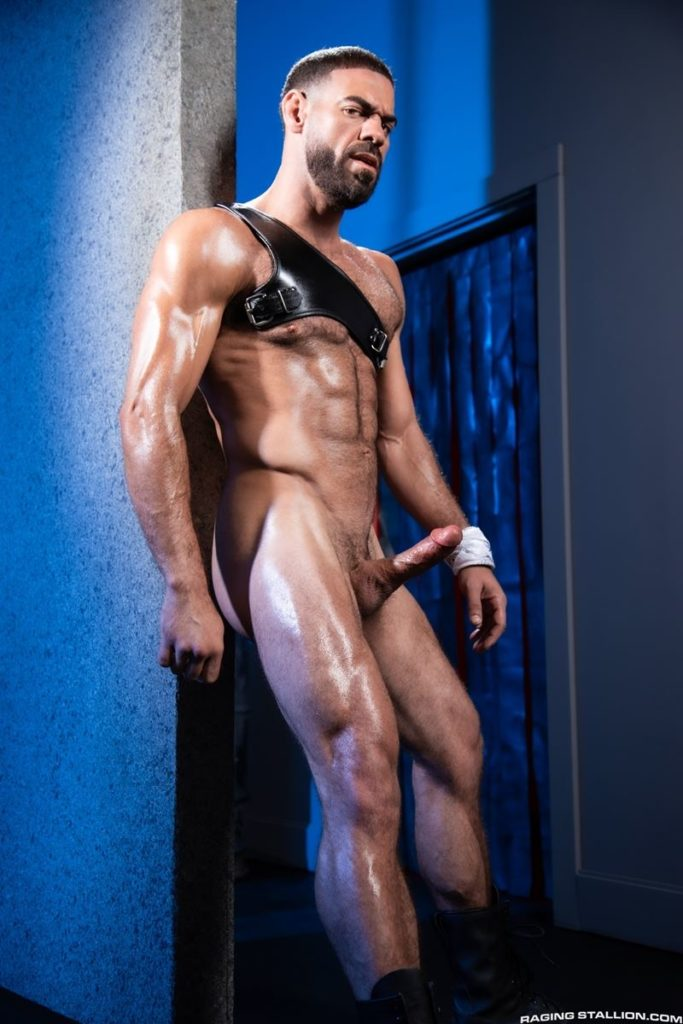 Hairy hunk gay porn star Ricky Larkin strips naked thick 9 inch dick 008 gay porn pics 683x1024 - Hairy hunk Ricky Larkin strips naked exposing his thick 8.5 inch dick