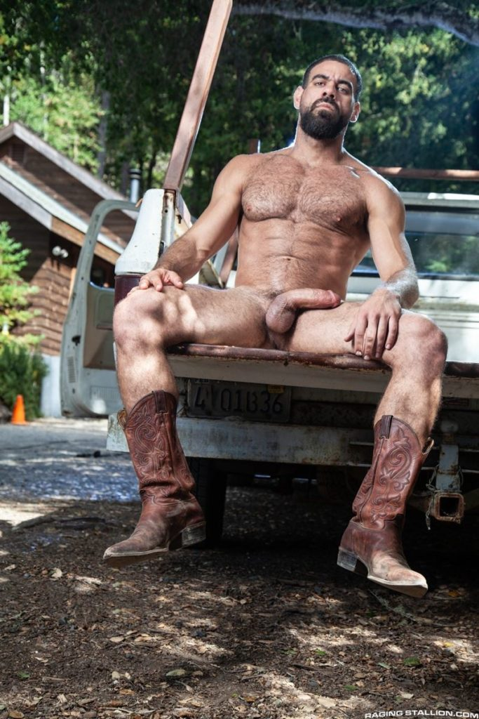 Hairy hunk gay porn star Ricky Larkin strips naked thick 9 inch dick 013 gay porn pics 683x1024 - Hairy hunk Ricky Larkin strips naked exposing his thick 8.5 inch dick