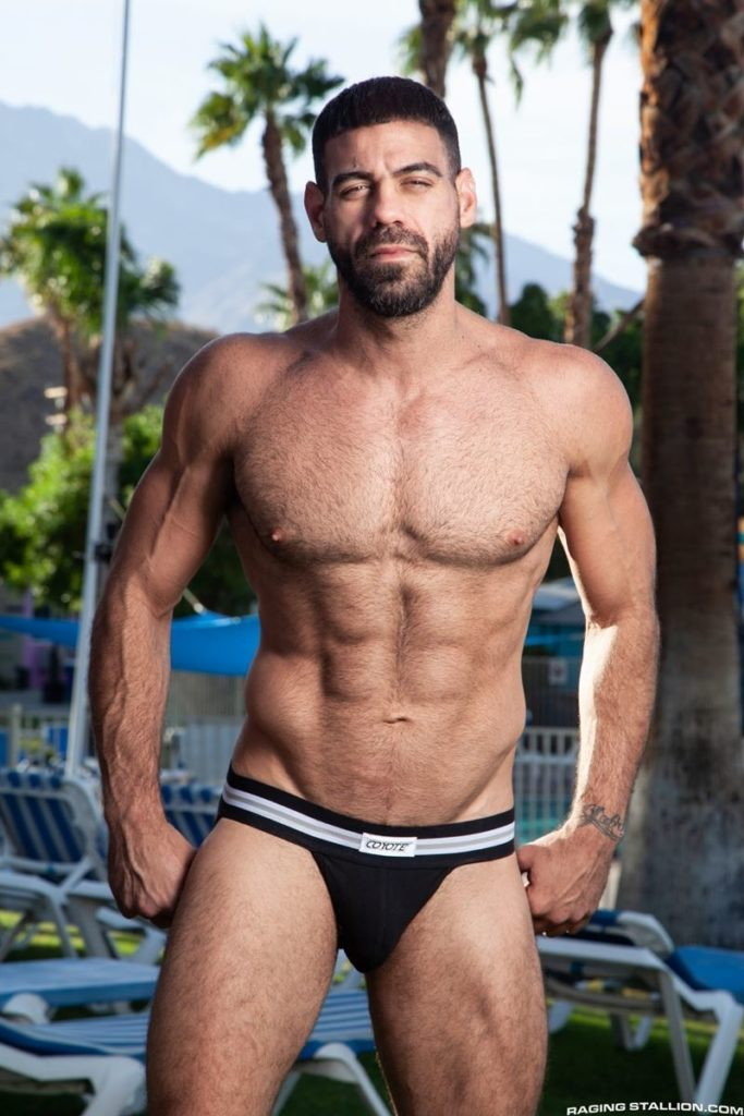 Hairy hunk gay porn star Ricky Larkin strips naked thick 9 inch dick 014 gay porn pics 683x1024 - Hairy hunk Ricky Larkin strips naked exposing his thick 8.5 inch dick