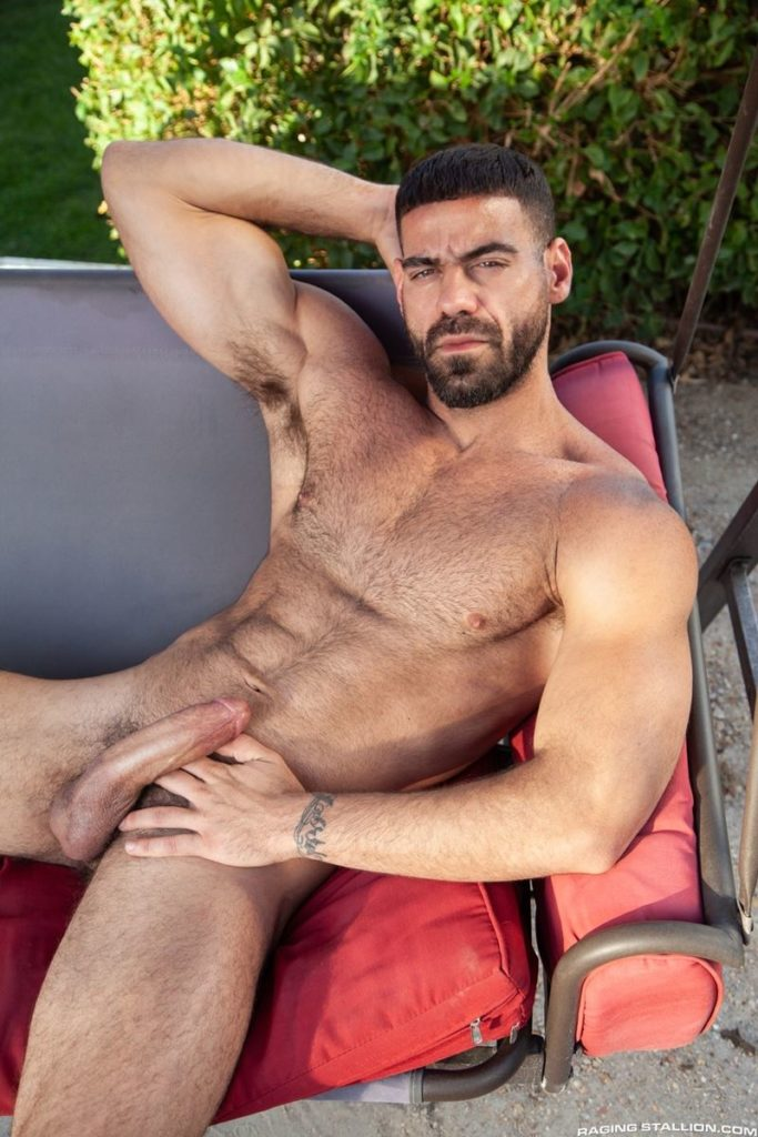 Hairy hunk gay porn star Ricky Larkin strips naked thick 9 inch dick 015 gay porn pics 683x1024 - Hairy hunk Ricky Larkin strips naked exposing his thick 8.5 inch dick