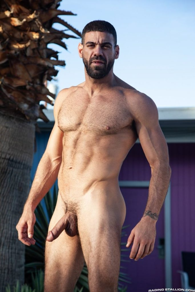 Hairy hunk gay porn star Ricky Larkin strips naked thick 9 inch dick 016 gay porn pics 683x1024 - Hairy hunk Ricky Larkin strips naked exposing his thick 8.5 inch dick