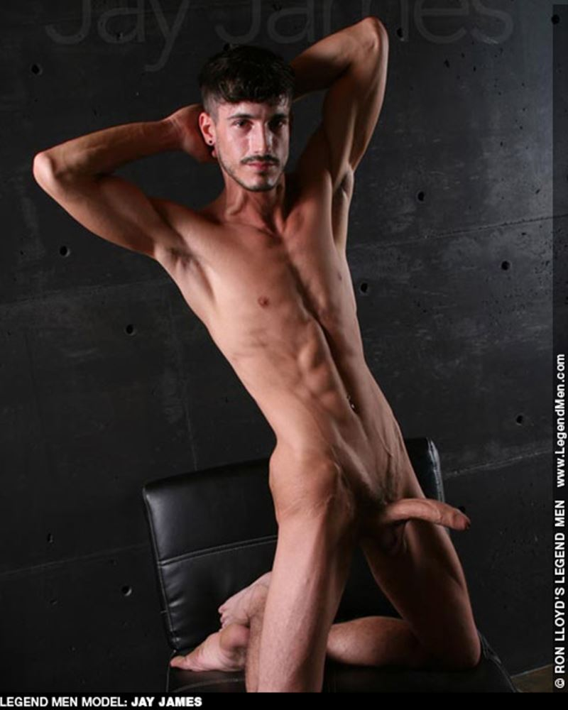 Young ripped muscle stud Jay James nude solo photoshoot big uncut dick Legend Men 005 gay porn pics - Young ripped muscle stud Jay James undressed at Legend Men