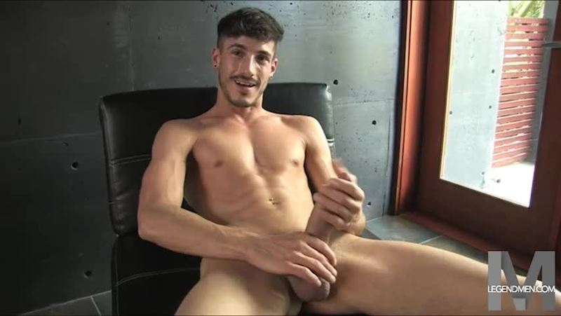 Young ripped muscle stud Jay James nude solo photoshoot big uncut dick Legend Men 006 gay porn pics - Young ripped muscle stud Jay James undressed at Legend Men