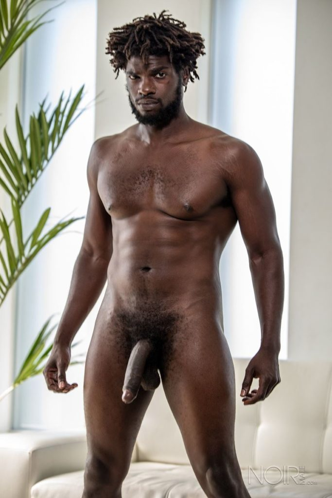 Sexy ebony muscle stud Devin Trez stripped naked stroking huge 10 inch black dick 004 gay porn pics 683x1024 - Sexy ebony muscle stud Devin Trez stripped stroking his huge 10-inch uncut black dick