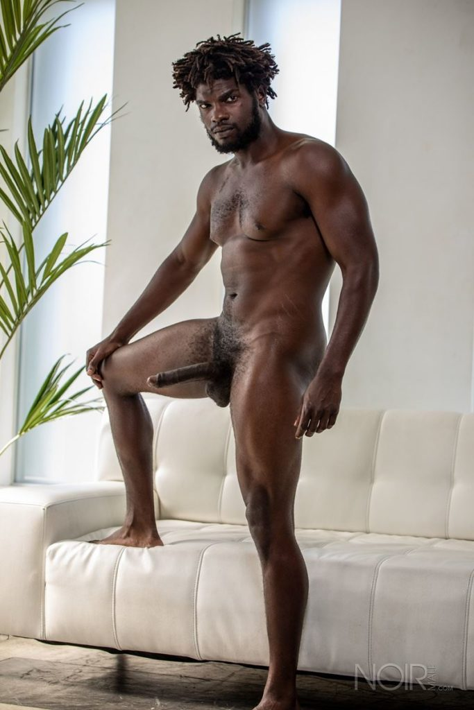 Sexy ebony muscle stud Devin Trez stripped naked stroking huge 10 inch black dick 006 gay porn pics 683x1024 - Sexy ebony muscle stud Devin Trez stripped stroking his huge 10-inch uncut black dick