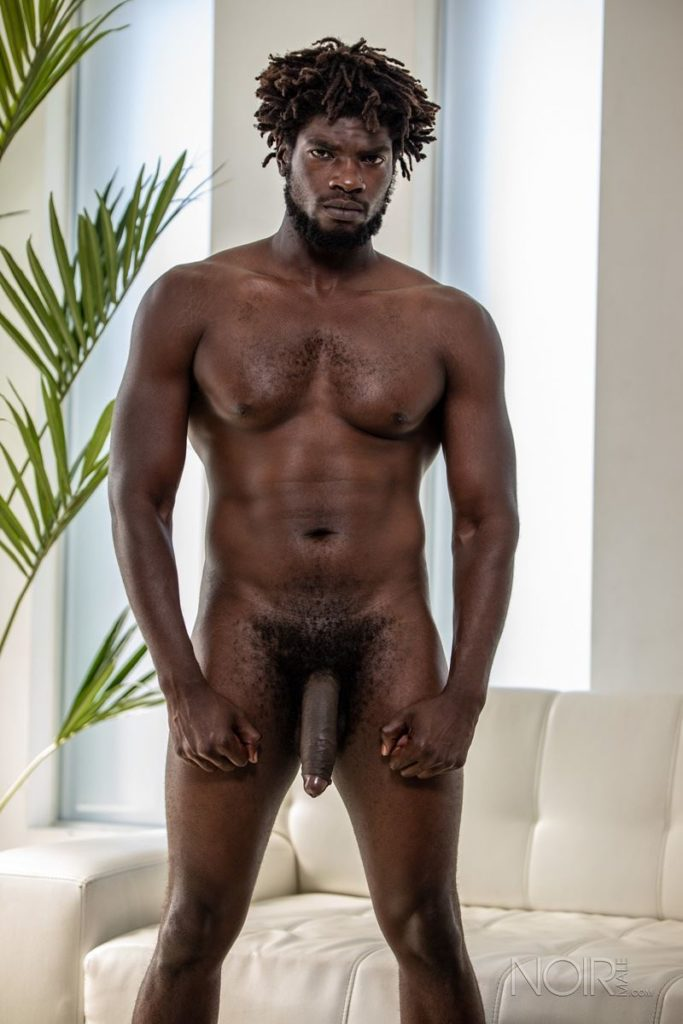 Sexy ebony muscle stud Devin Trez stripped naked stroking huge 10 inch black dick 007 gay porn pics 683x1024 - Sexy ebony muscle stud Devin Trez stripped stroking his huge 10-inch uncut black dick