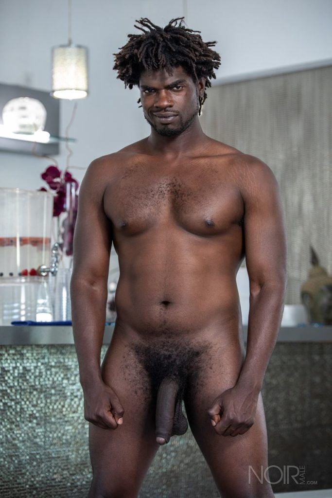 Sexy ebony muscle stud Devin Trez stripped naked stroking huge 10 inch black dick 010 gay porn pics 683x1024 - Sexy ebony muscle stud Devin Trez stripped stroking his huge 10-inch uncut black dick