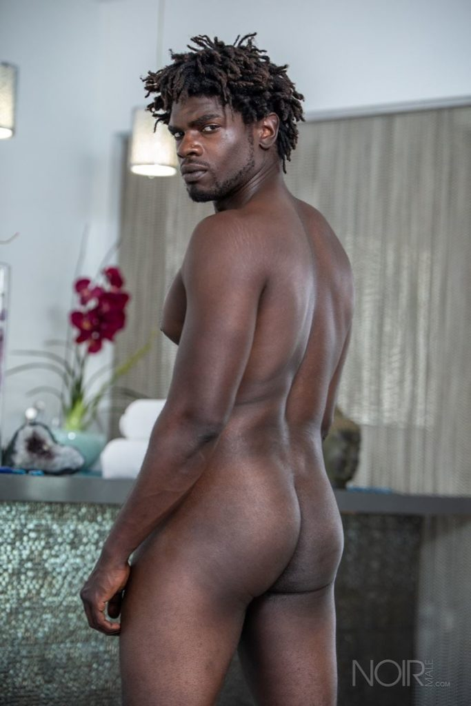 Sexy ebony muscle stud Devin Trez stripped naked stroking huge 10 inch black dick 011 gay porn pics 683x1024 - Sexy ebony muscle stud Devin Trez stripped stroking his huge 10-inch uncut black dick