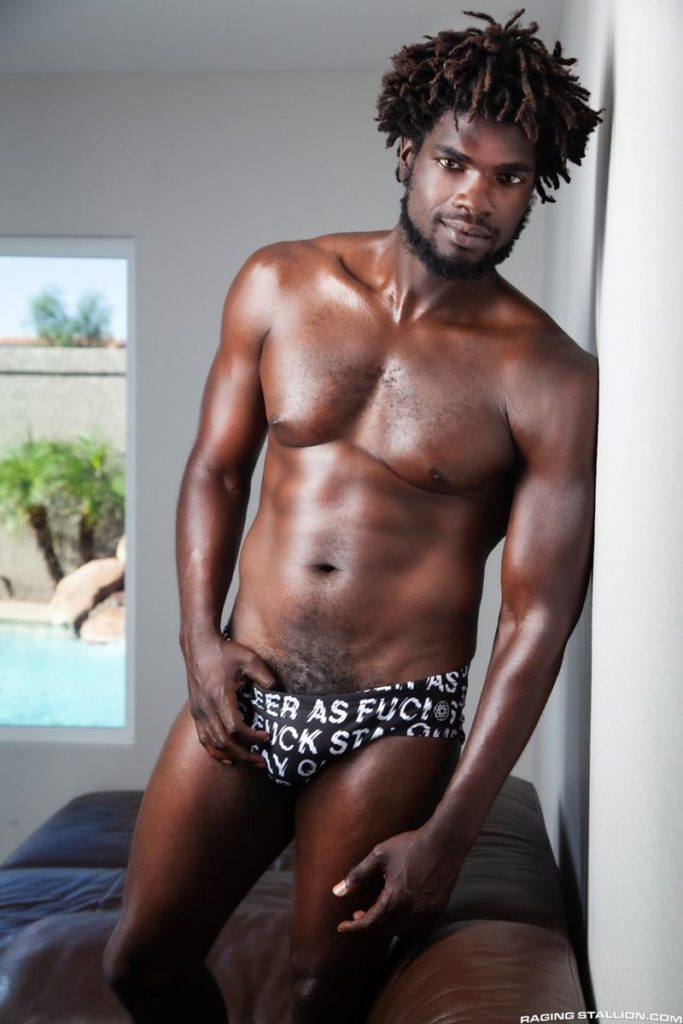 Sexy ebony muscle stud Devin Trez stripped naked stroking huge 10 inch black dick 013 gay porn pics 683x1024 - Sexy ebony muscle stud Devin Trez stripped stroking his huge 10-inch uncut black dick