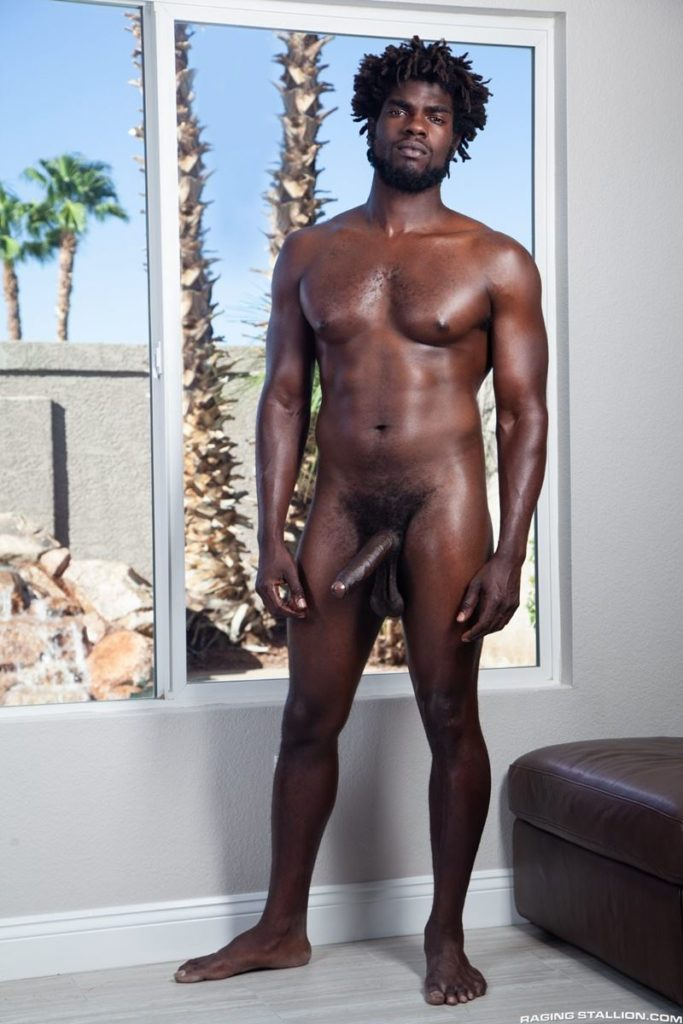 Sexy ebony muscle stud Devin Trez stripped naked stroking huge 10 inch black dick 015 gay porn pics 683x1024 - Sexy ebony muscle stud Devin Trez stripped stroking his huge 10-inch uncut black dick