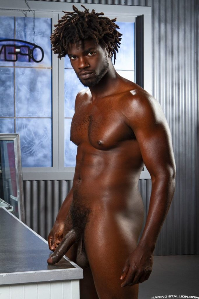 Sexy ebony muscle stud Devin Trez stripped naked stroking huge 10 inch black dick 016 gay porn pics 683x1024 - Sexy ebony muscle stud Devin Trez stripped stroking his huge 10-inch uncut black dick