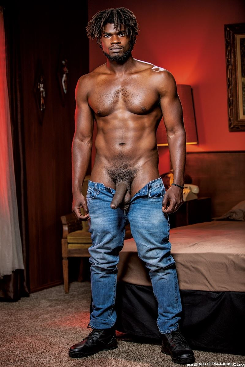 Sexy ebony muscle stud Devin Trez stripped naked stroking huge 10 inch black dick 019 gay porn pics - Sexy ebony muscle stud Devin Trez stripped stroking his huge 10-inch uncut black dick