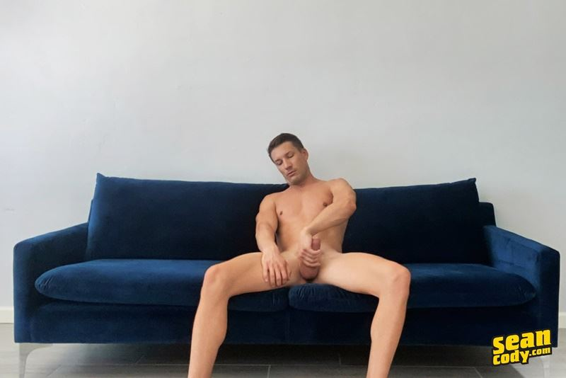 Hot ripped muscle stud Sean Cody Dustin wanking big dick spurts jizz abs chest 001 gay porn pics - Hot ripped muscle stud Sean Cody Dustin wanking his big dick spurts jizz all over his abs and chest