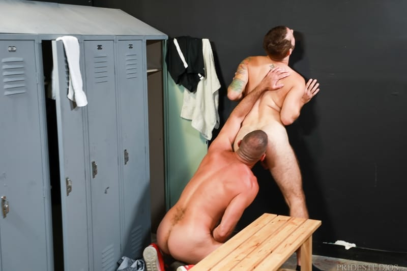 Jay Donahue cum cock Clay Towers throat face fucks blows hot load MenOver30 008 porno pics gay - Jay Donahue pushes his cum soaked cock down Clay Towers' throat and face fucks him until he blows his hot load