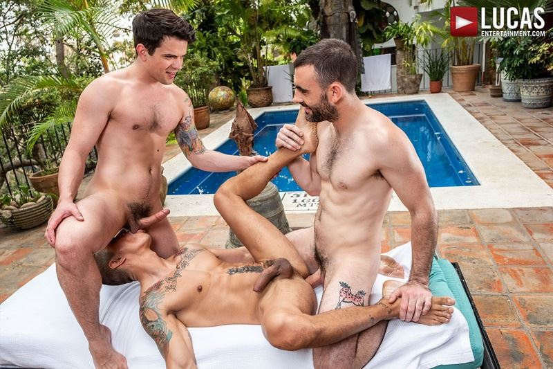 Lucas Entertainment hot hairy muscle dude Max Arion huge cock barebacking Dakota Payne bare asshole Max Avila 001 gay porn pics - Lucas Entertainment hot hairy muscle dude Max Arion's huge cock barebacking Dakota Payne's bare asshole with Max Avila