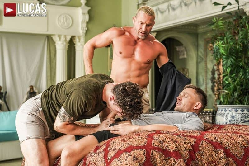 Older muscle dude Tomas Brand smooth hunk Andrey Vic spit roast young dude Robert Law hot holes 001 gay porn pics - Older muscle dude Tomas Brand and smooth muscled hunk Andrey Vic spit roast young dude Robert Law's hot holes